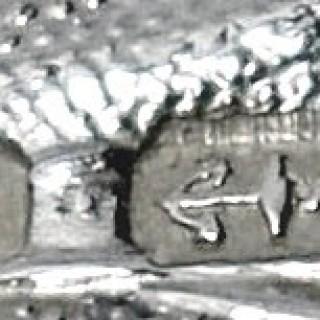 Antique Silver Spirit Label