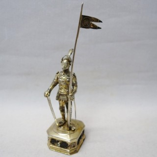 Antique Silver Model Knight
