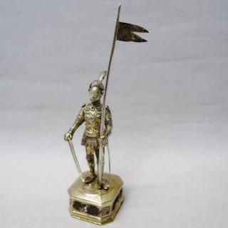 Antique Silver Model Knight