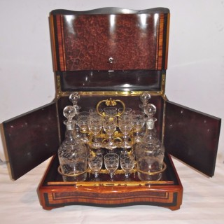A French Napoleon III cave a liqueur