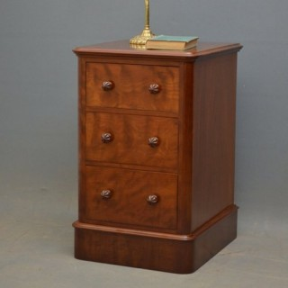 Victorian Mahogany Bedside Chest of Drawers