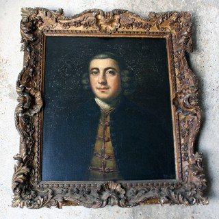 A Fine Mid 18thC Provincial English School Oil on Canvas Portrait of Lumley Arnold (1723-81), c.1760-70