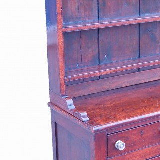 Antique Georgian Oak Dresser With Rack