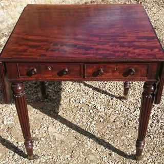 Regency Mahogany Pembroke Table By Gillow of Lancaster and London
