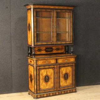 19th Century Antique English Inlaid Cupboard