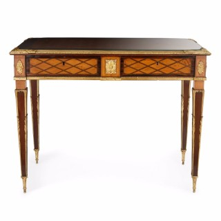 Victorian ormolu mounted parquetry desk by Donald Ross