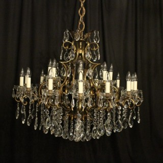 Italian Gilded 22 Light Antique Chandelier