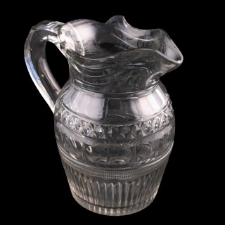 Georgian Cut Glass Jug