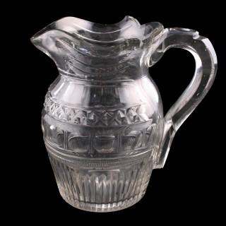 Georgian Cut Glass Jug