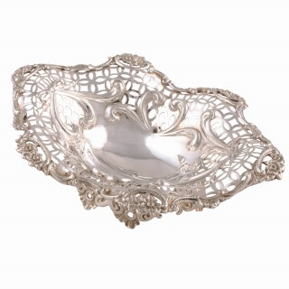 Victorian Sterling Silver Pierced Dish