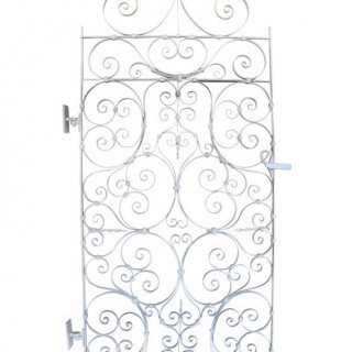 An early 20th century small wrought iron secret garden gate