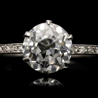 Diamond solitaire ring, circa 1920.