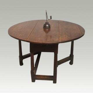 Rare child's oak gateleg table