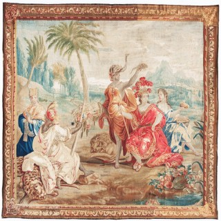 'LATE 17TH CENTURY FLEMISH ALLEGORICAL BAROQUE TAPESTRY, 'AFRICA'