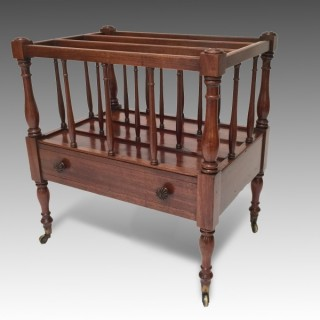 Antique George IV Mahogany Canterbury