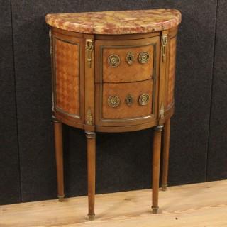 20th Century Demi Lune Dresser In Louis XVI Style