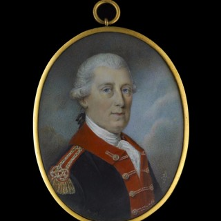 Portrait miniature of an Officer of the Royal Artillery, c.1785