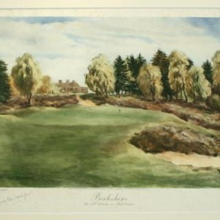 VINTAGE GOLF PRINT 'THE ROYAL BERKSHIRE'.