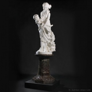 'The Finding of Moses' - Marble Figural Sculpture