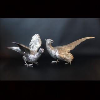 Sterling Silver Pheasants