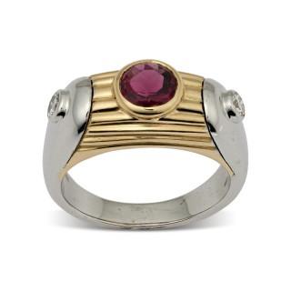 Bvlgari pink tourmaline and diamond ring