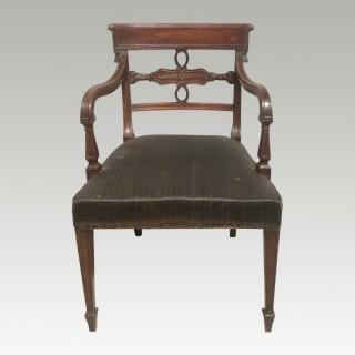 Georgian mahogany armchair.
