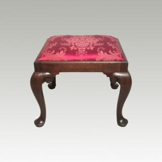 Georgian mahogany stool