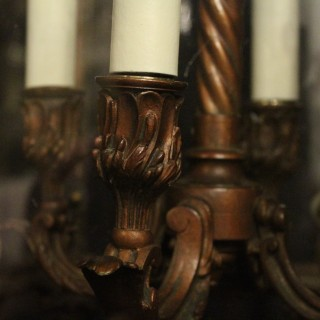 French Bronze Four Light Antique Lantern