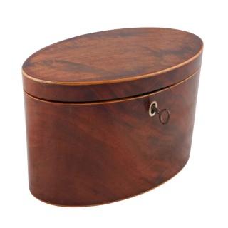 Georgian Oval Tea Caddy