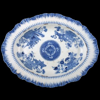 18th Century Chinese Oval Dish