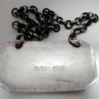 Antique Silver Brandy Label