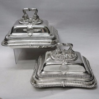 George III Silver Entrée Dishes by Paul Storr