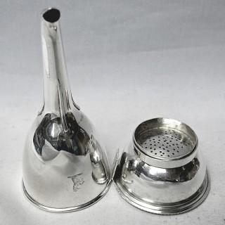 George III Silver Wine Funnel