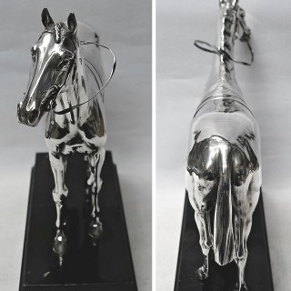 Large Silver Model Horse
