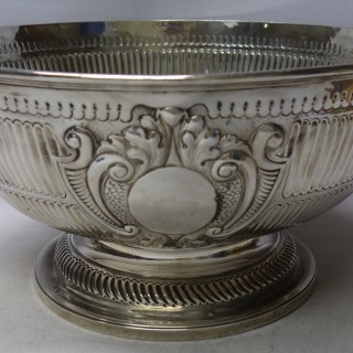 Antique Queen Anne Style Silver Monteith Bowl