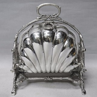 Victorian Silver Plated Folding Biscuit Box