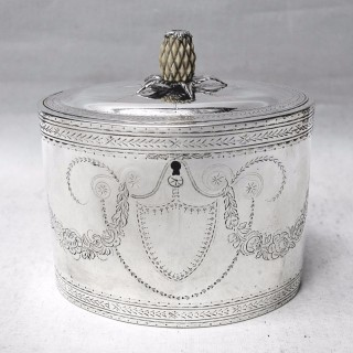 George III Silver Caddy Box by Hester Bateman