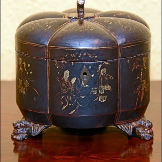 Antique Chinese Lacquer Caddy