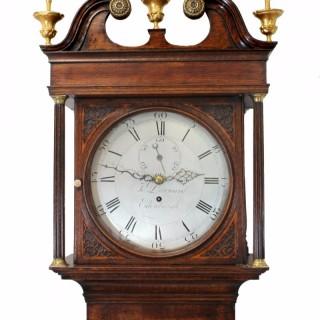 Scottish Longcase Timepiece, Round silvered Dial