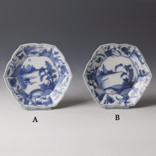Kangxi White and Blue Export Ware Saucer