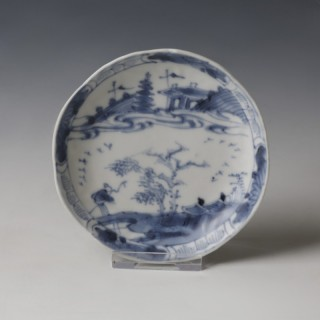 Kangxi White and Blue Saucer