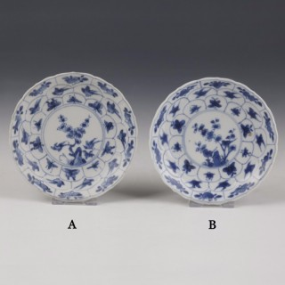Kangxi White and Blue Export Ware Saucer with Decoration