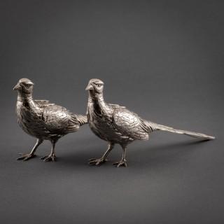 PAIR OF SILVER BIRDS