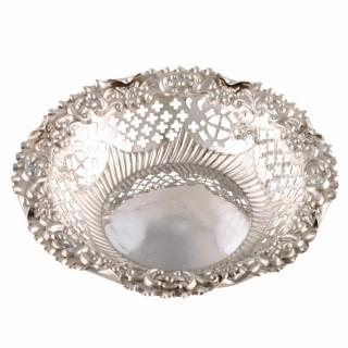 Victorian Sterling Silver Bon Bon Dish