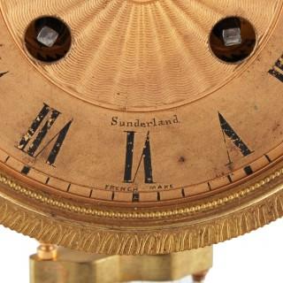 Onyx Four Glass Mantel Clock