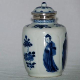 kangxi - chinese 18th Century Blue and White Bottle Vase