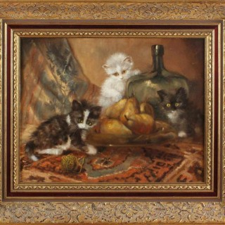 Johannes Wouterus van Trirum 'Playful Kittens'