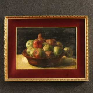 20th Century French Still Life Painting Oil On Panel