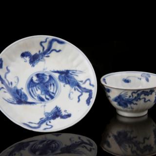 Kangxi tea set with rooster motif