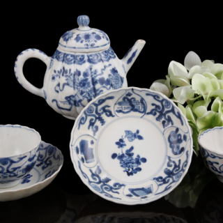 Kangxi tea set with teapot